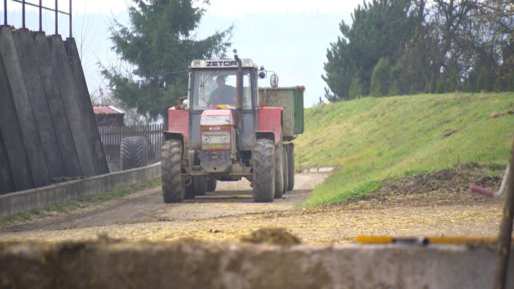 Traktor u Želivky