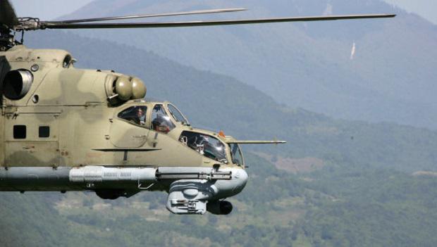 Součástí výzbroje arménské armády jsou bojové vrtulníky Mi-24