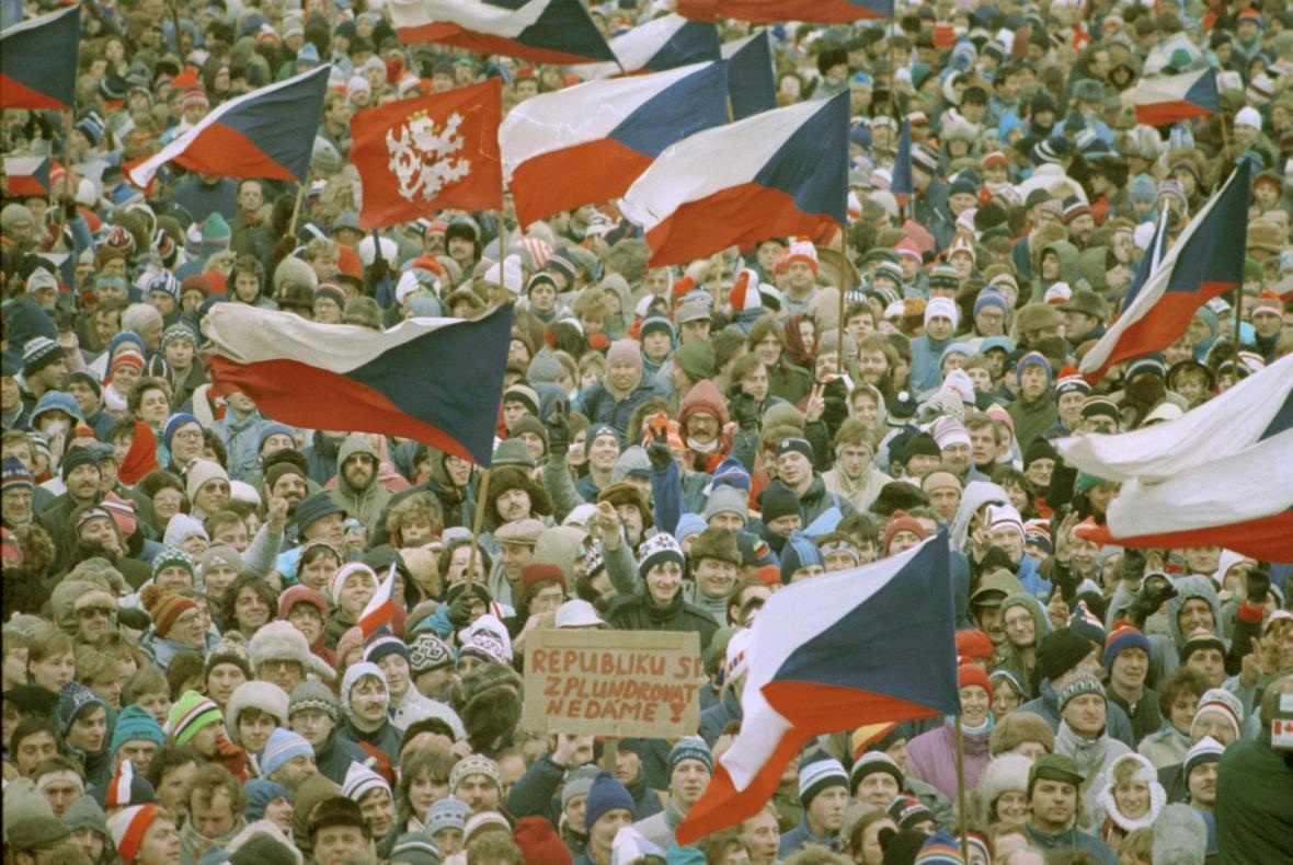 Listopad 1989 - Letenská pláň