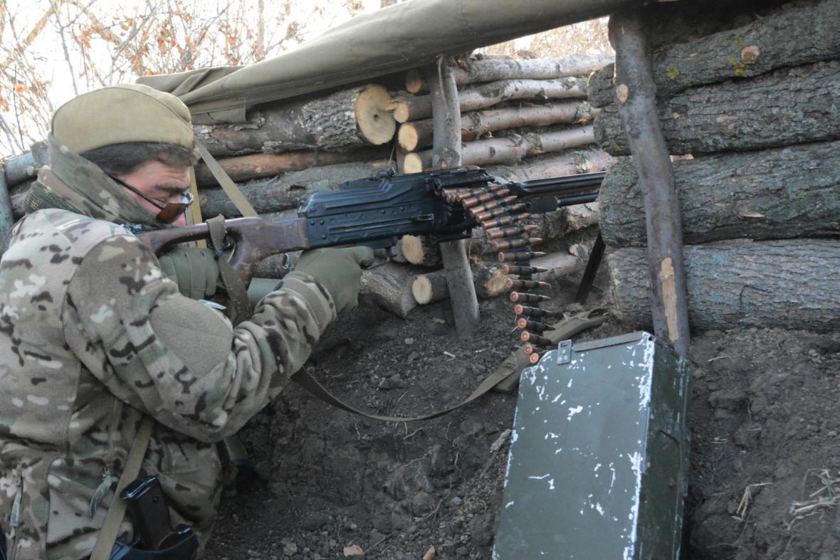 Povstalecký bojovník v Doněcku