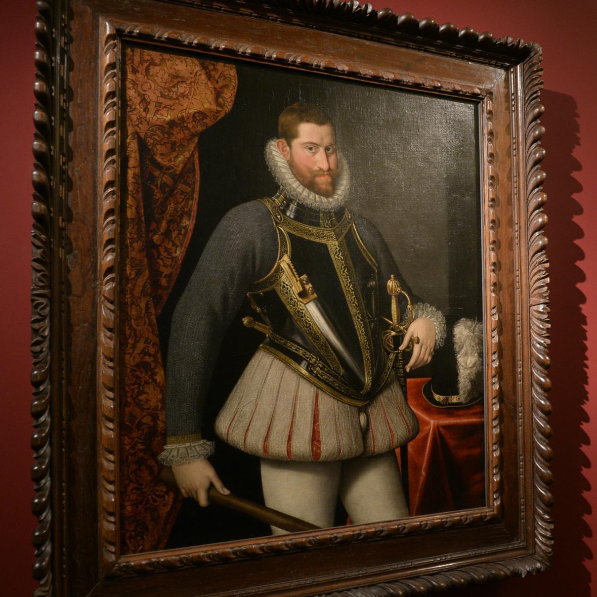 Portrét Rudolfa II. od Lucase van Valckenborcha