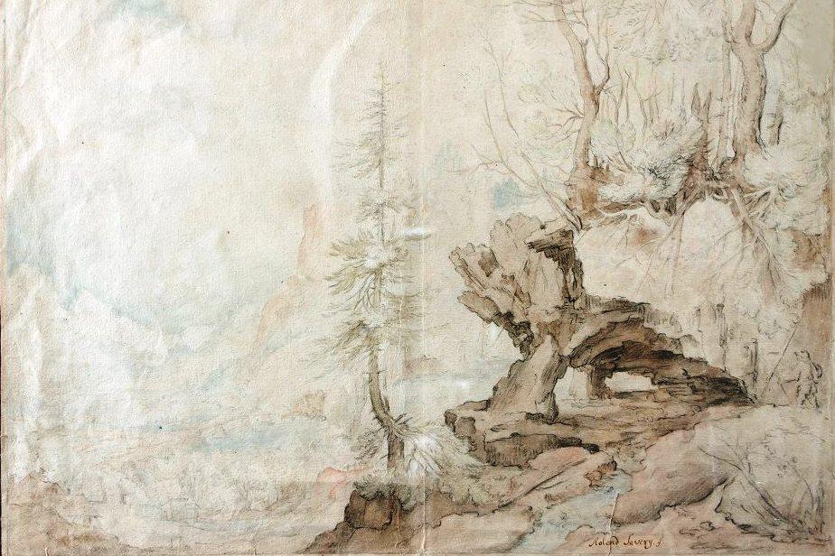 Krajina se skalním obloukem Roelanta Saveryho