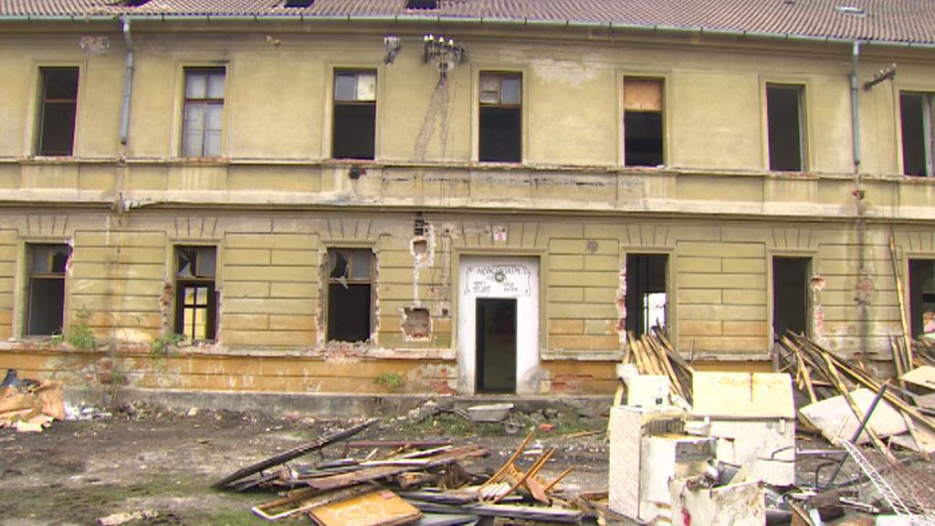 Demolice kasáren Julia Fučíka v Českých Budějovicích