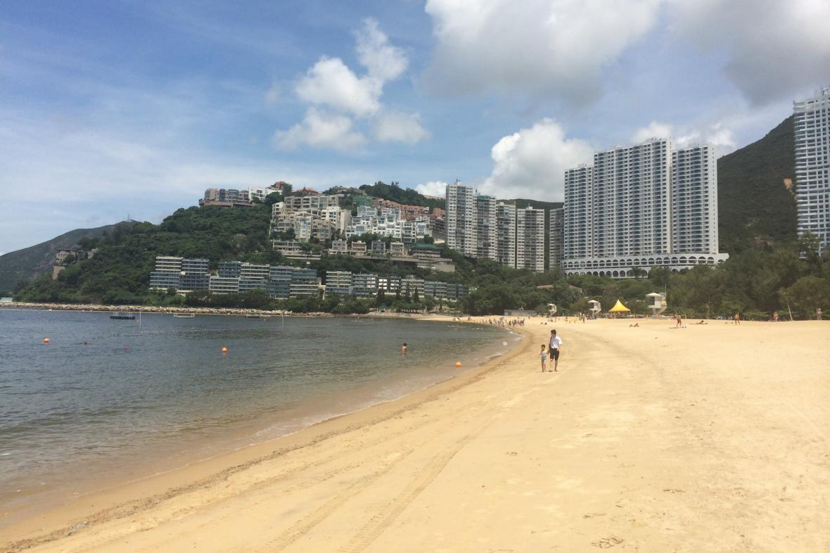 Nejznámější hongkongská pláž Repulse Bay