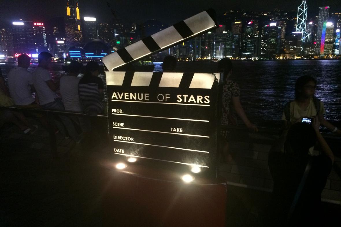 Avenue of Stars je cílem mnoha turistů