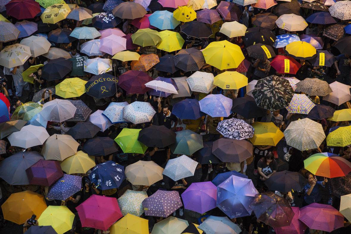 Deštníková revoluce v Hongkongu