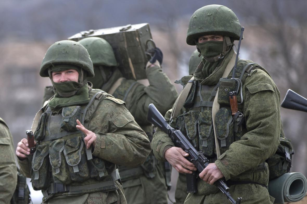 Ozbrojenci na poloostrově Krym