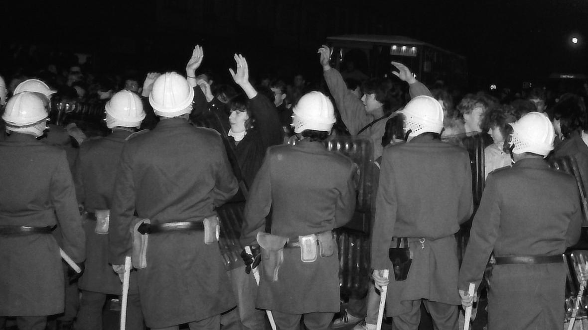 Demonstrace v Teplicích roku 1989