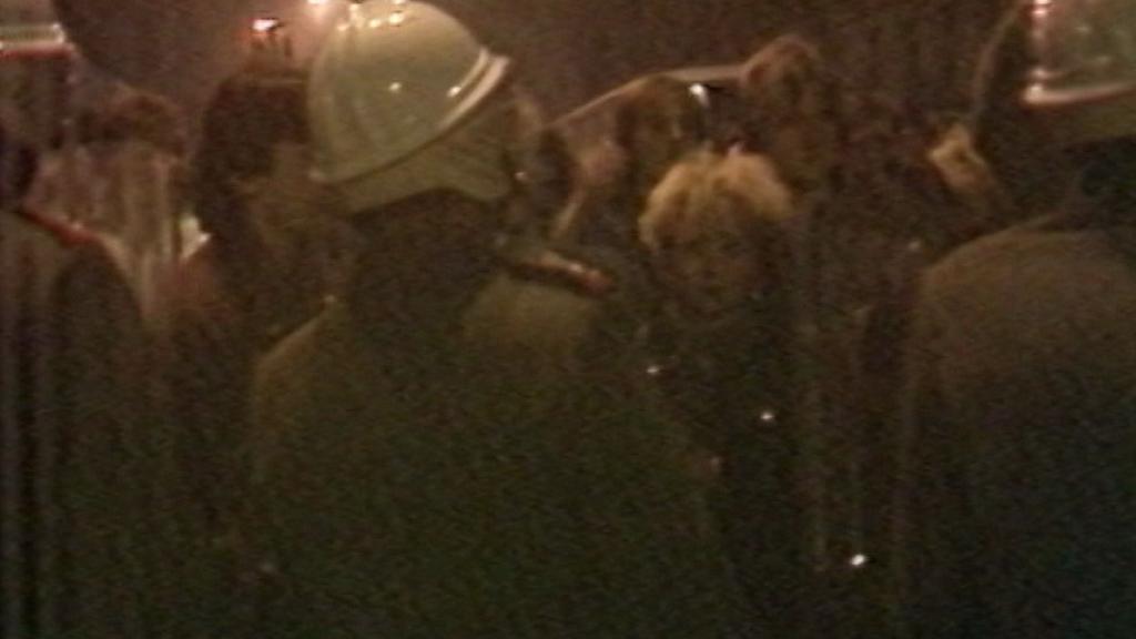 Archivní záběr ČST z listopadové demonstrace v Teplicích