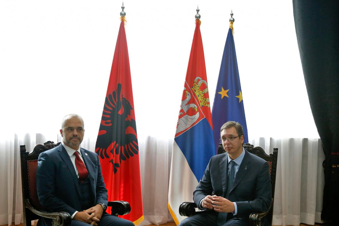 Edi Rama a Aleksandar Vučić