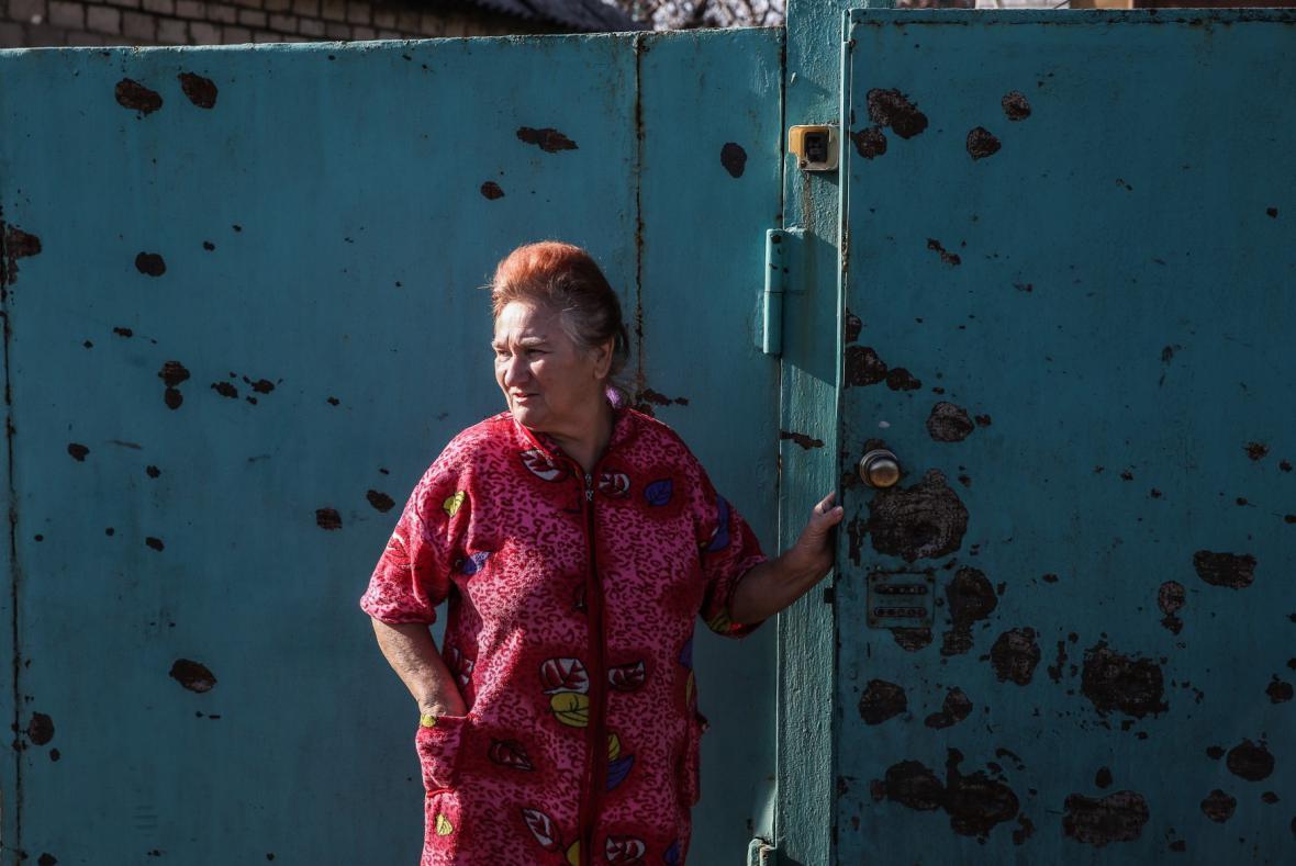 Následky bombardování v Doněcku