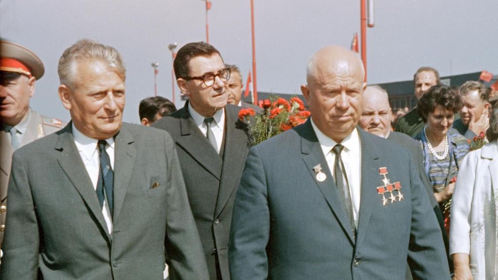 Chruščov v srpnu 1964 s Antonínem Novotným