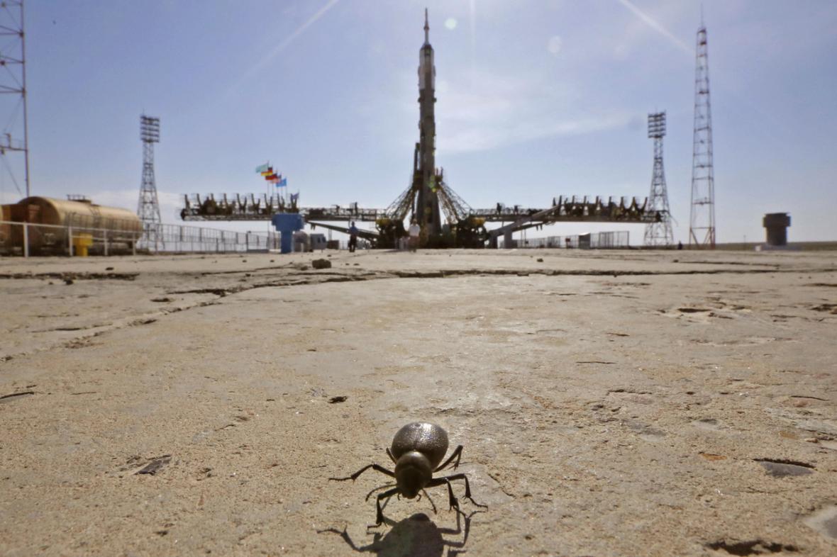 Kosmická loď Sojuz TMA-13M před startem