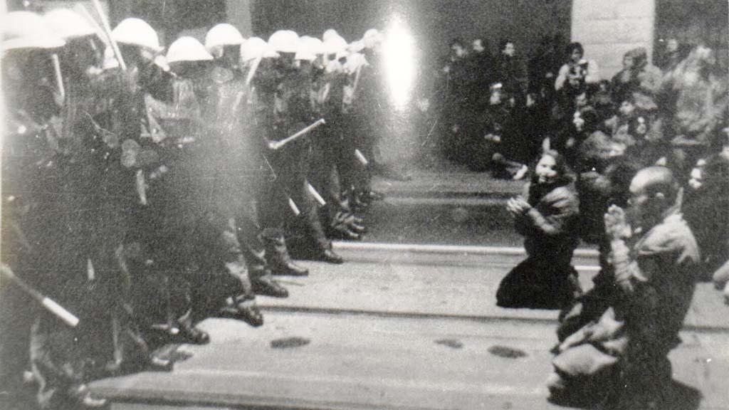Studenti na Národní třídě 17. 11. 1989