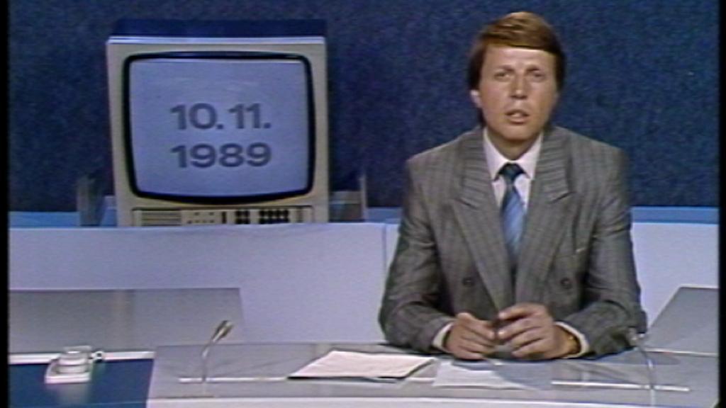 Televizní noviny ČST o nehodě Balt-Orient expresu 10. listopadu 1989