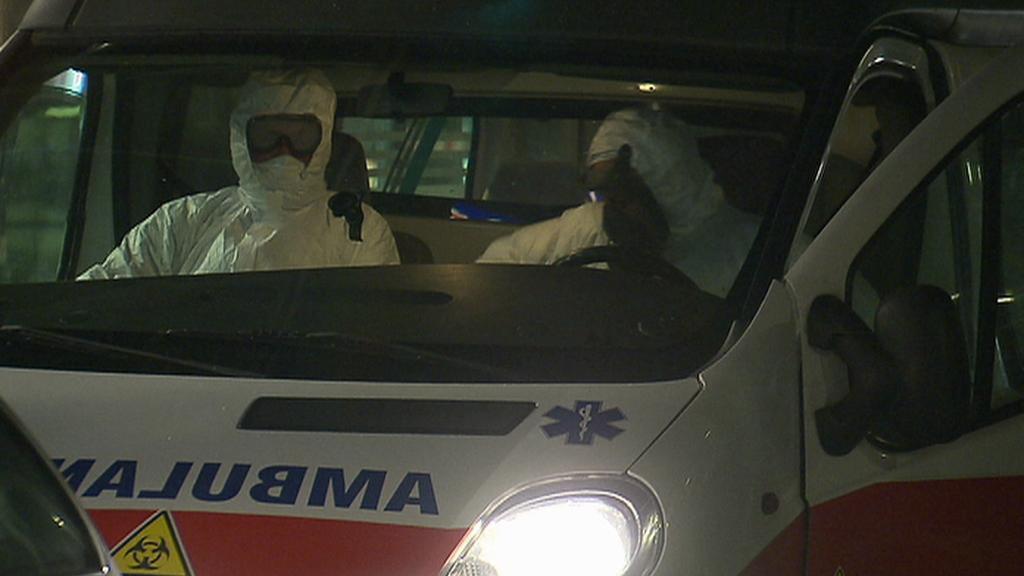 Převoz pacienta s podezřením na ebolu