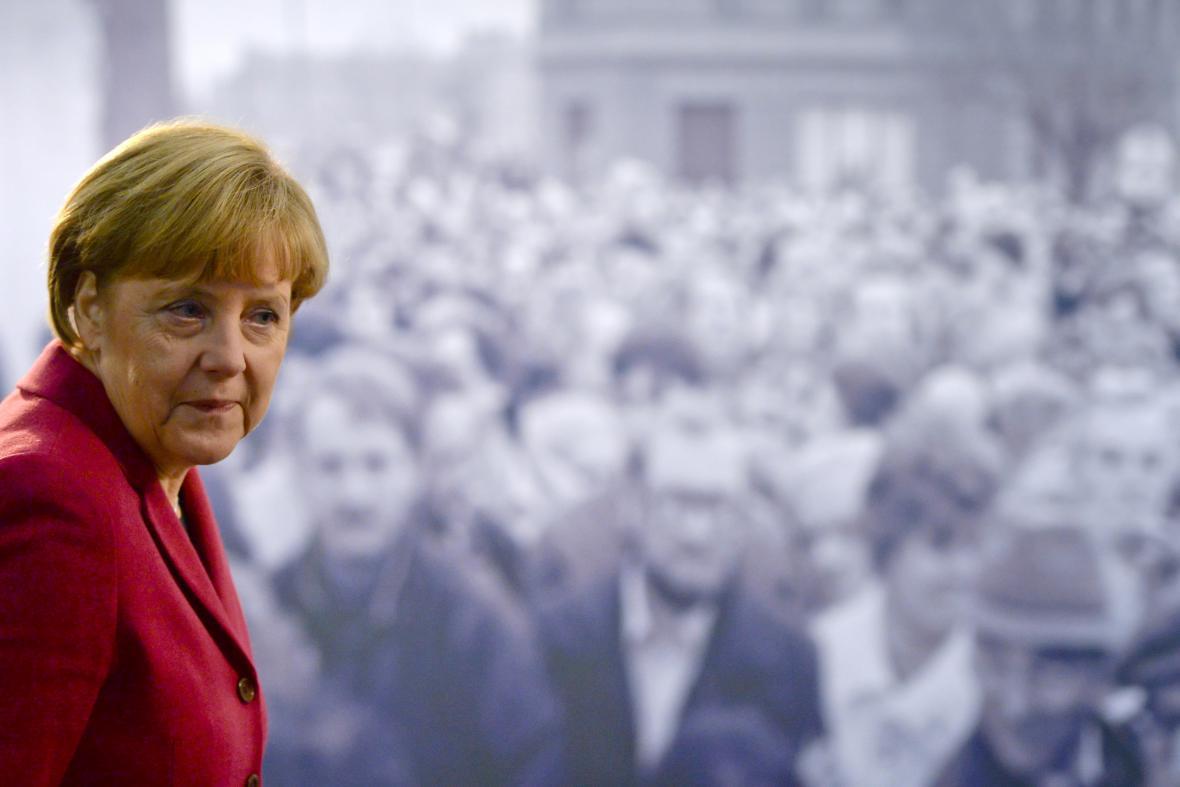 Angela Merkelová při projevu k výročí pádu Berlínské zdi