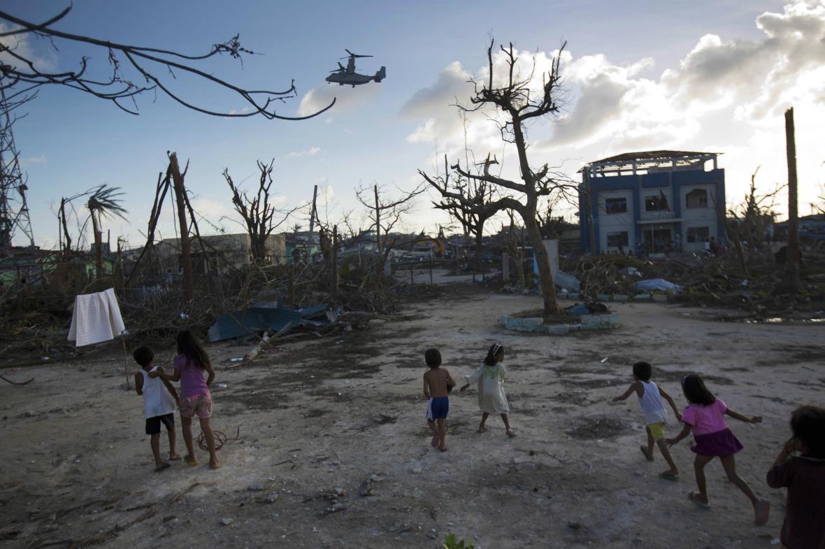 Filipíny zničené tajfunem Haiyan