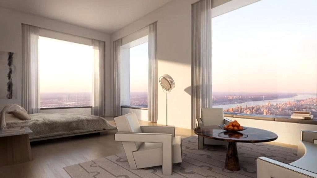 Ložnice v bytě na 432 Park Avenue