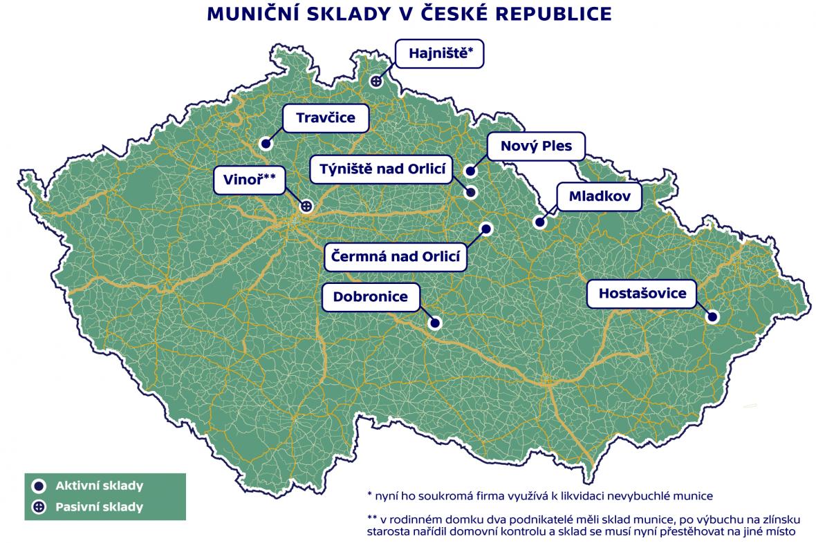 Muniční sklady v ČR