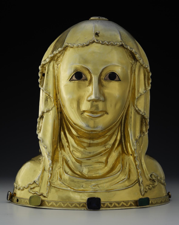 Relikviářová busta sv. Ludmily z kláštera sv. Jiří na Pražském hradě