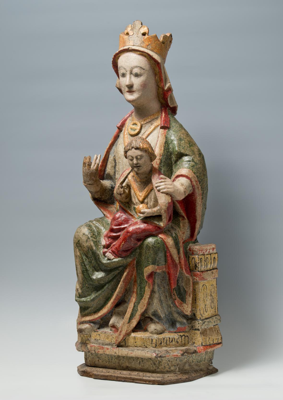 Trůnící Panna Marie s Ježíškem