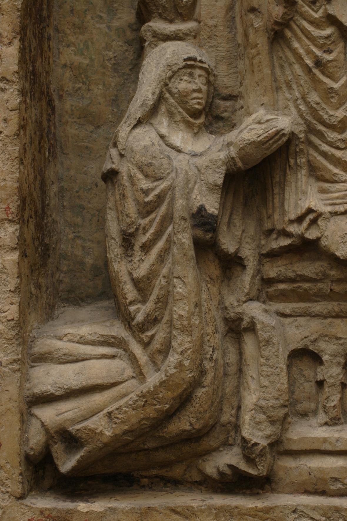 Trojdílný reliéf z baziliky sv. Jiří