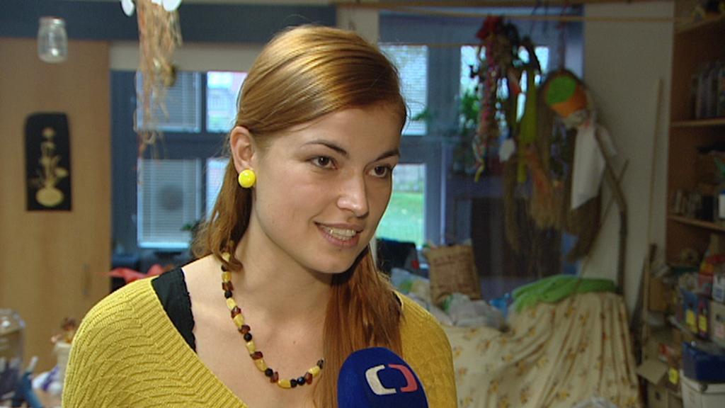Dominika Prokopová z malešického domova pro seniory