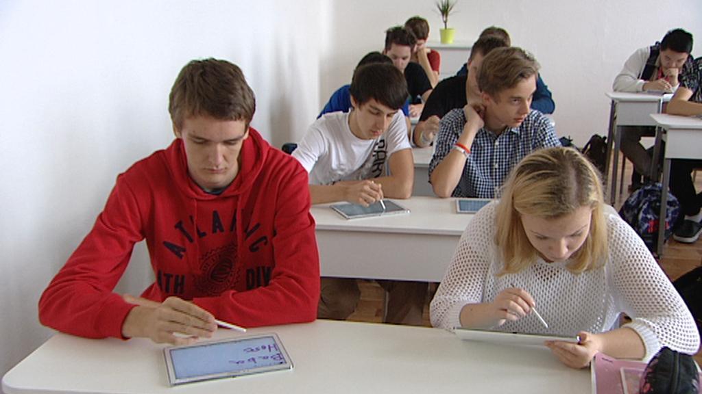 Studenti libeňského gymnázia