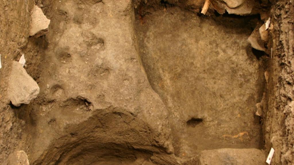 Pozůstatky domu z 9. století