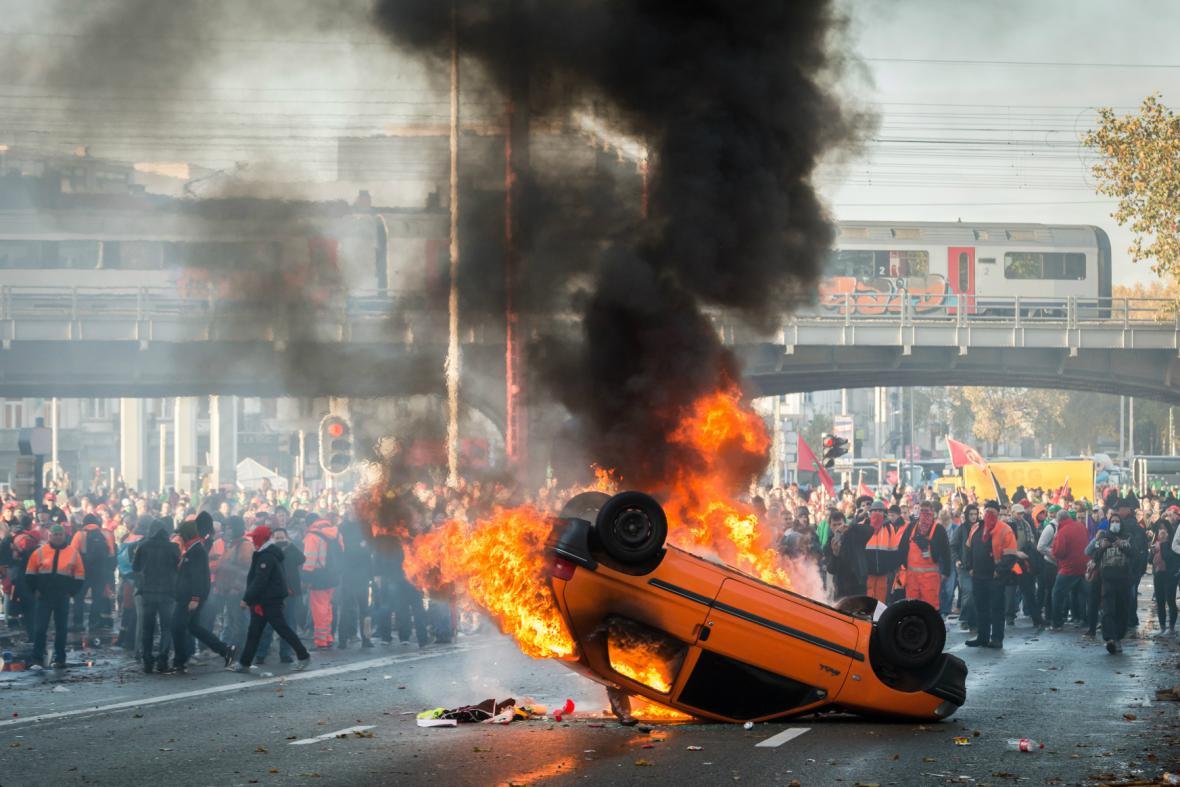 Nepokoje v Bruselu
