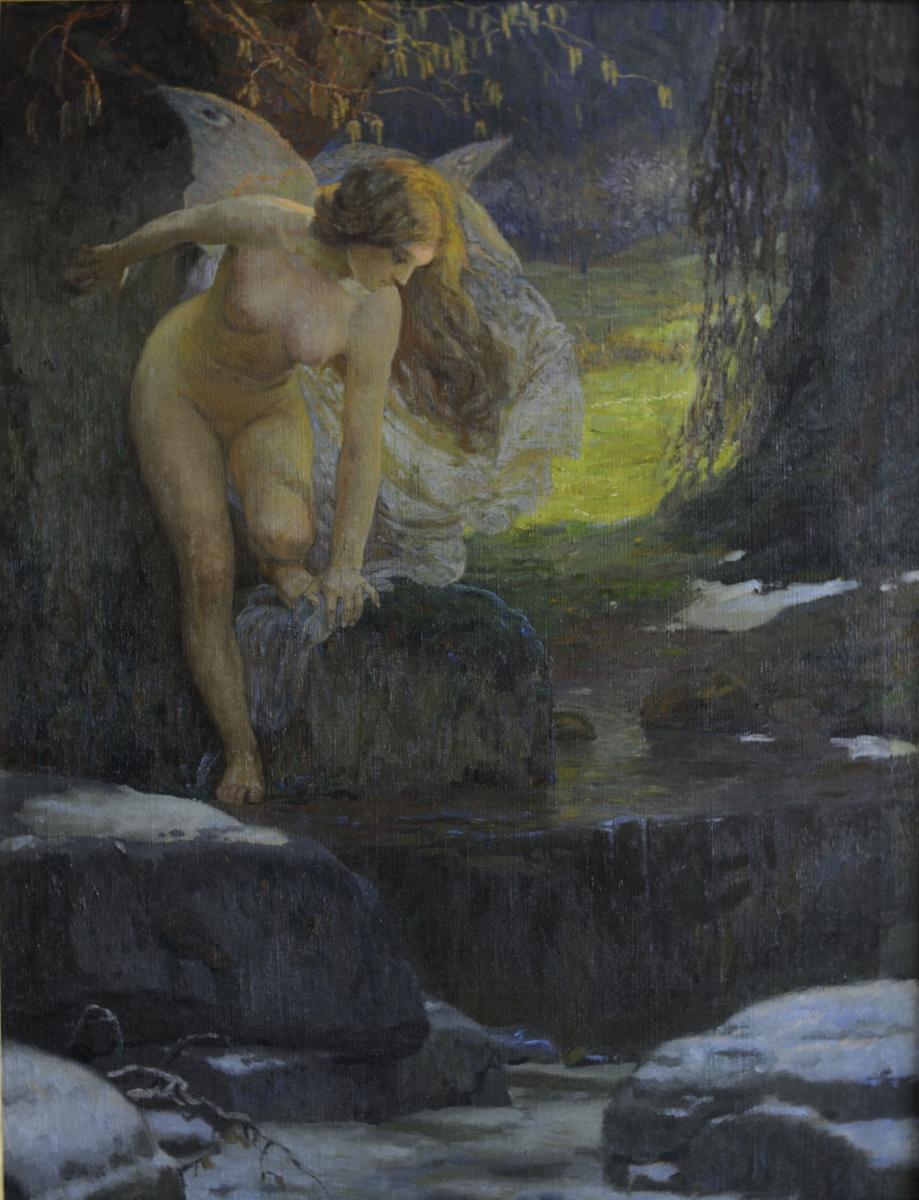 Josef Mandl / Alegorie jara, před 1900