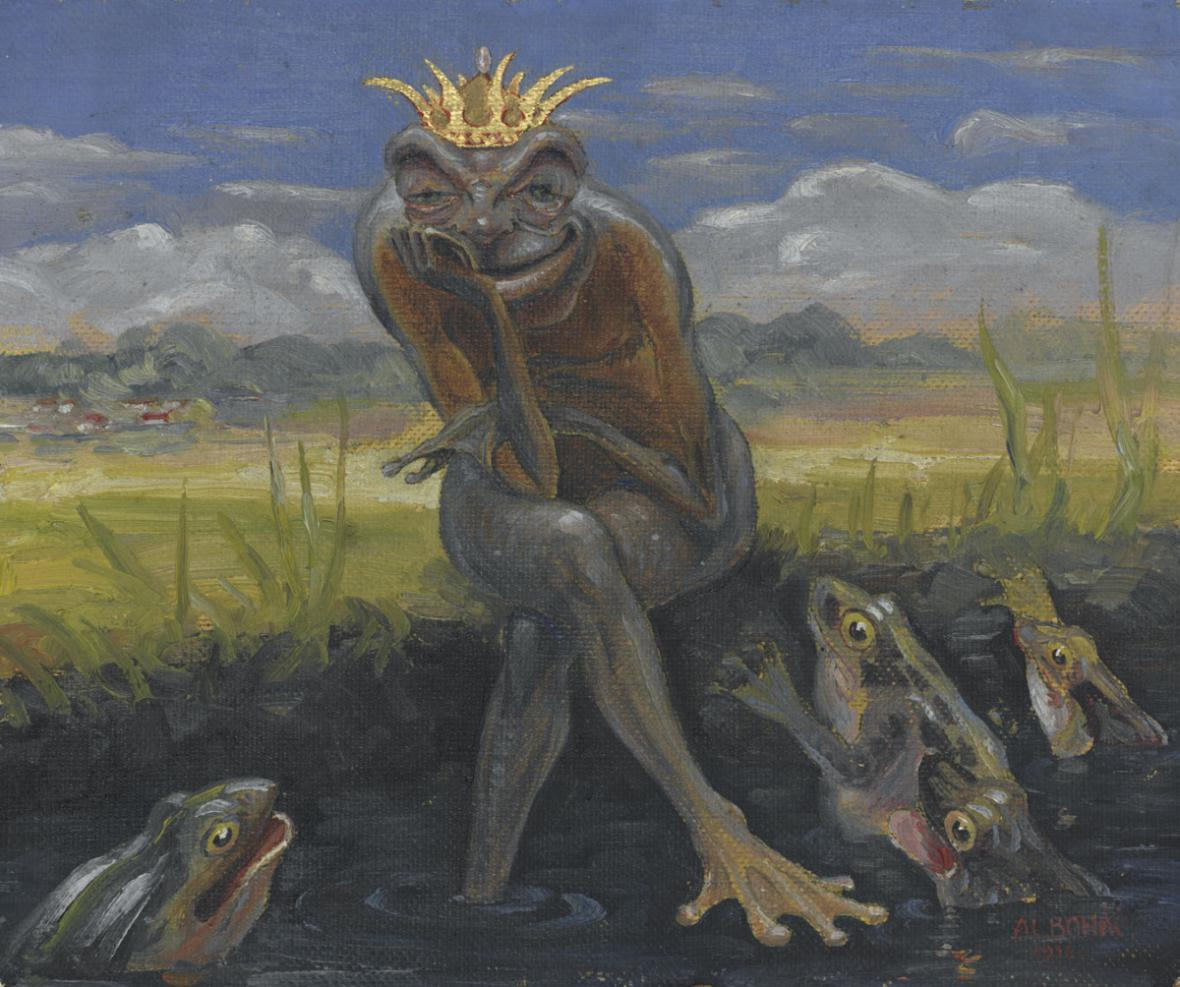 Alois Boháč / Žabák na kameni