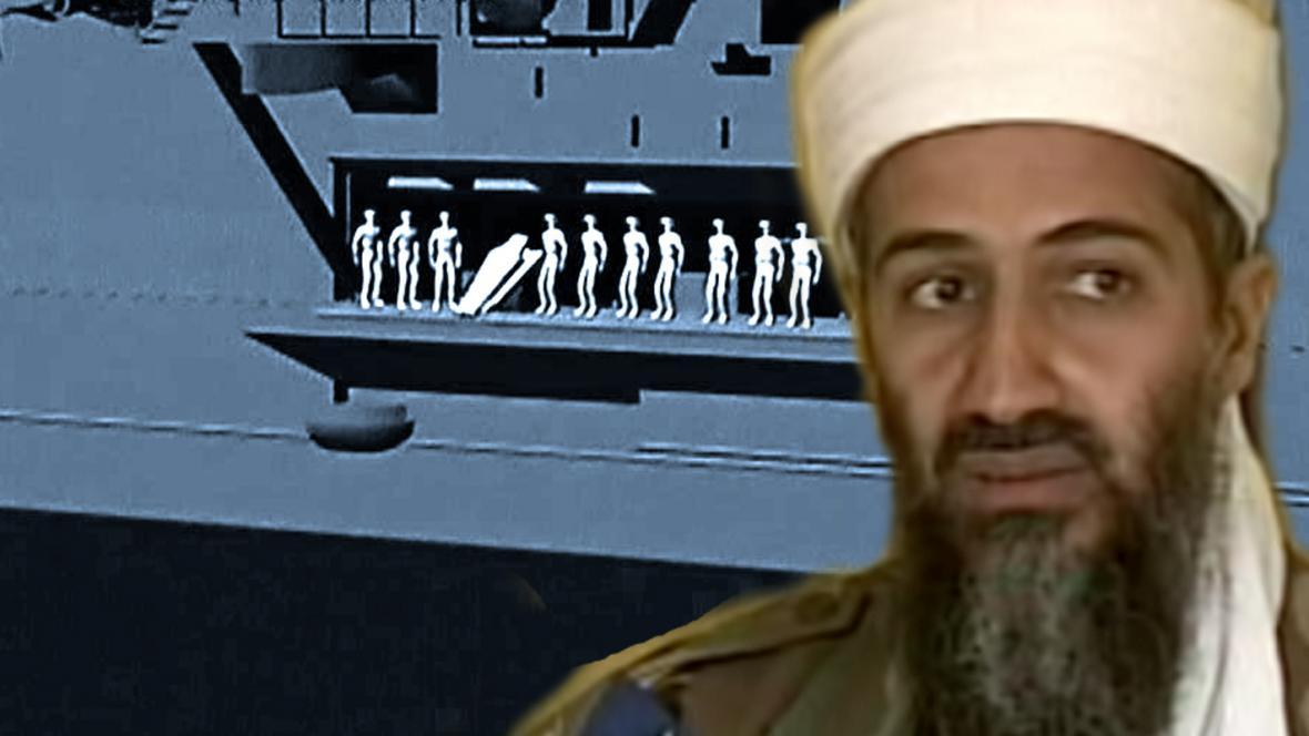 Pohřbení Usámy bin Ládina do moře