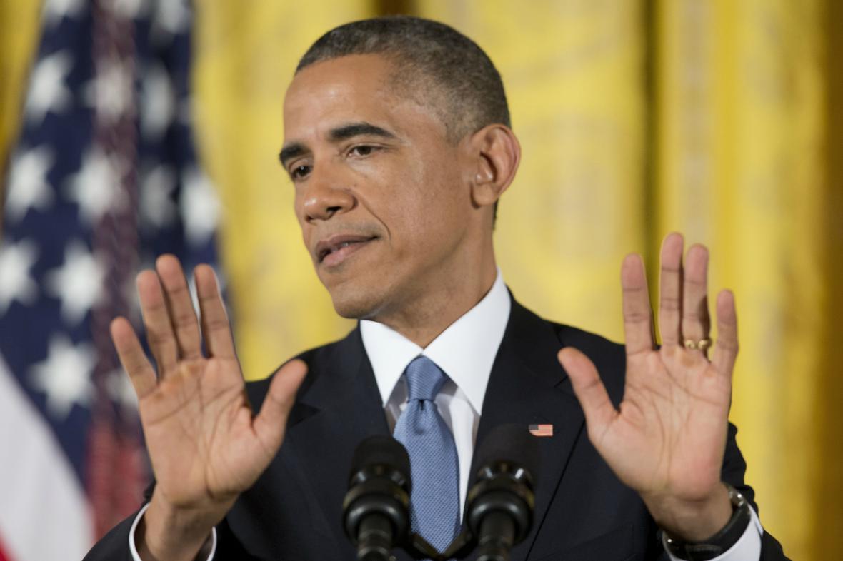 Barack Obama na tiskové konferenci
