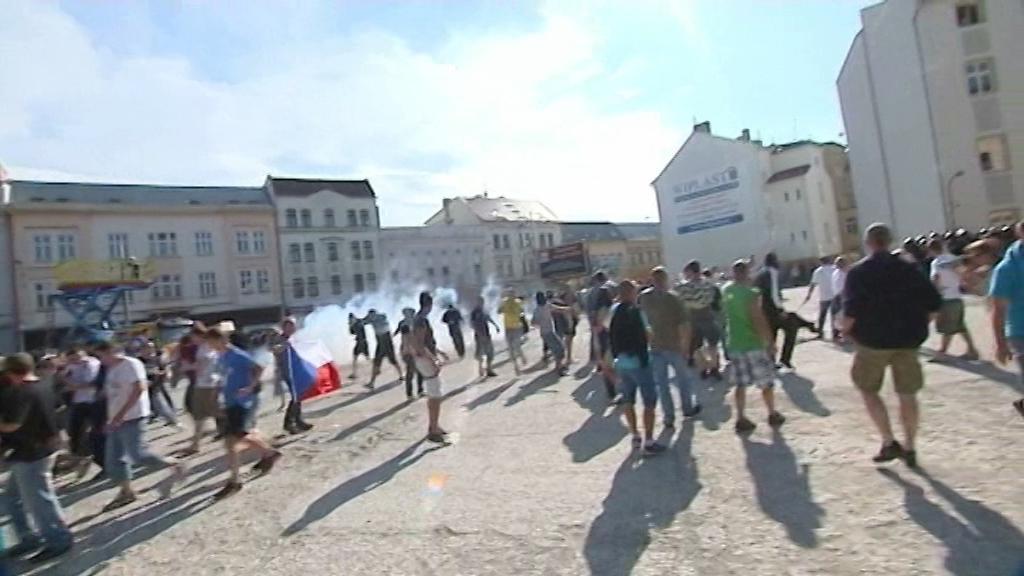 Protiromská demonstrace v Ostravě
