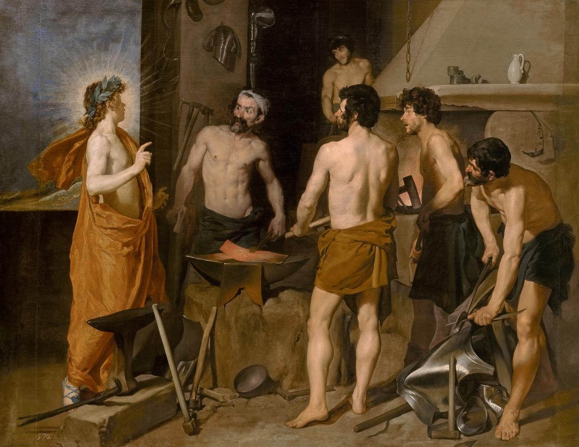 Diego Velázquez / Apollo ve Vulkánově kovárně, 1630