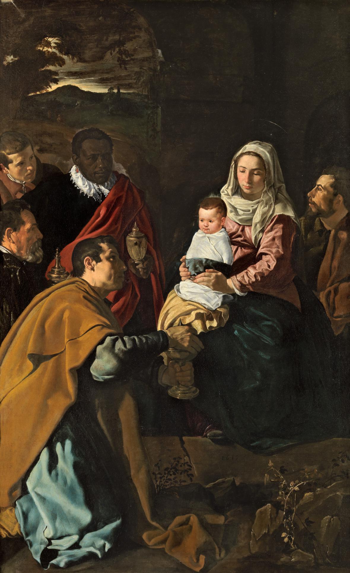 Diego Velázquez / Uctívání krále, 1619