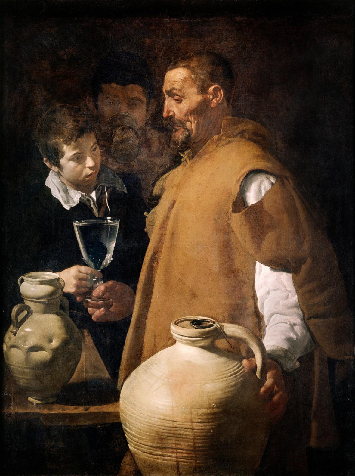 Diego Velázquez / prodavač vody v Seville, 1622