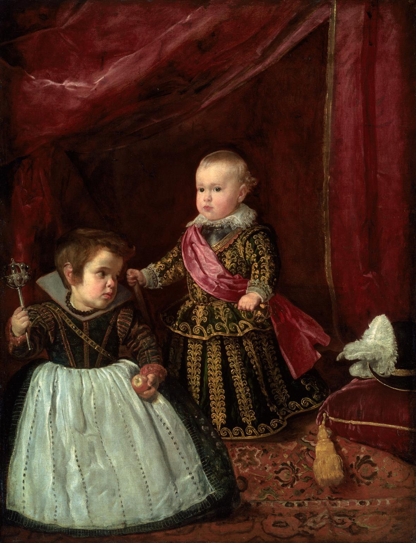 Diego Velázquez / infant Baltazar Karel s liliputánem, 1631-32
