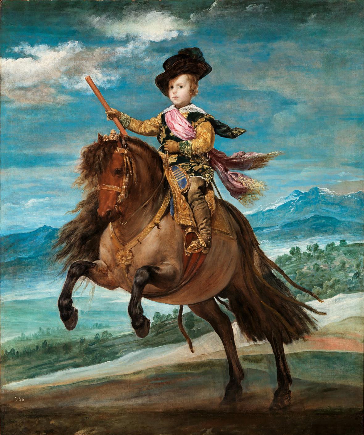 Diego Velázquez / princ Baltazar Karel na koni, 1635