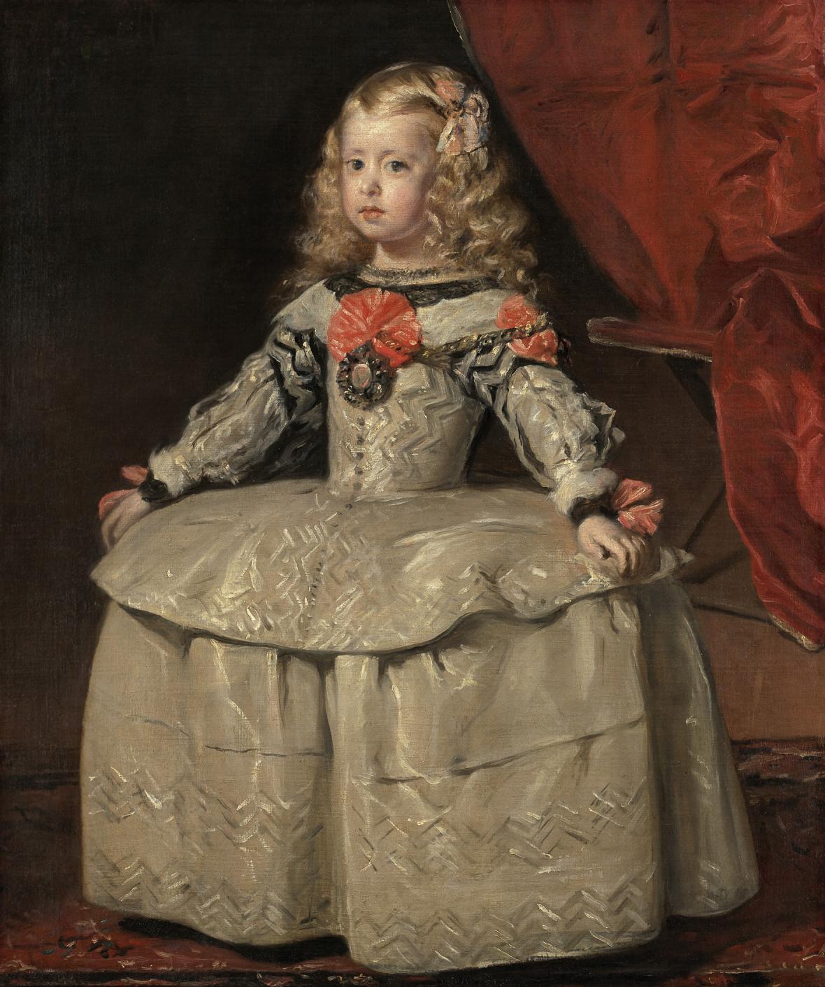 Diego Velázquez / španělská infantka Markéta Habsburská v bílém, 1656