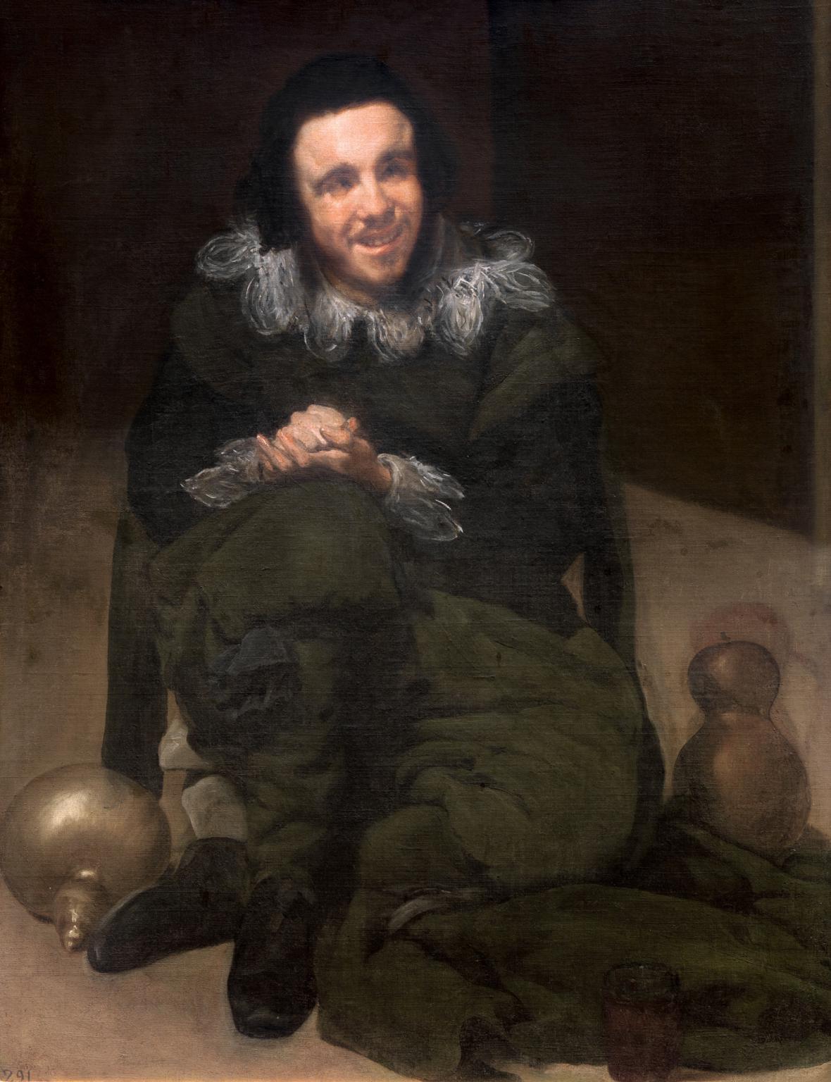 Diego Velázquez / dvorní šašek Juan de Calabazas, 1638