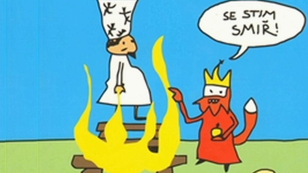 A takto komiksový strip Opráski sčeskí historje