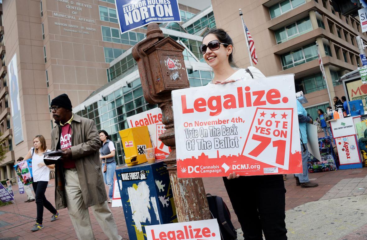 Propagace legalizace marihuany v hlavním městě USA