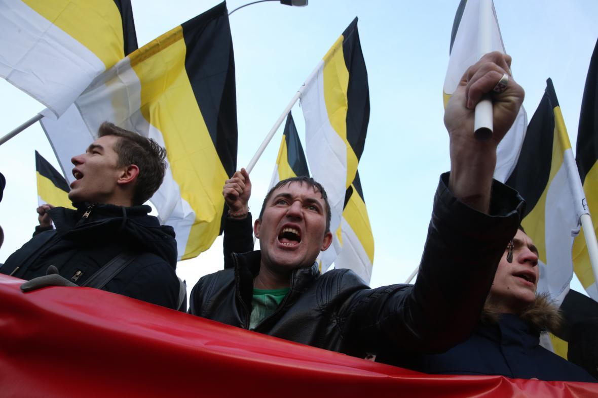 Demonstrace v Rusku - svátek národní jednoty