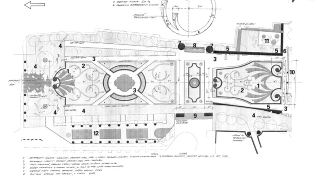 Původní podoba zámecké zahrady v Mikulově