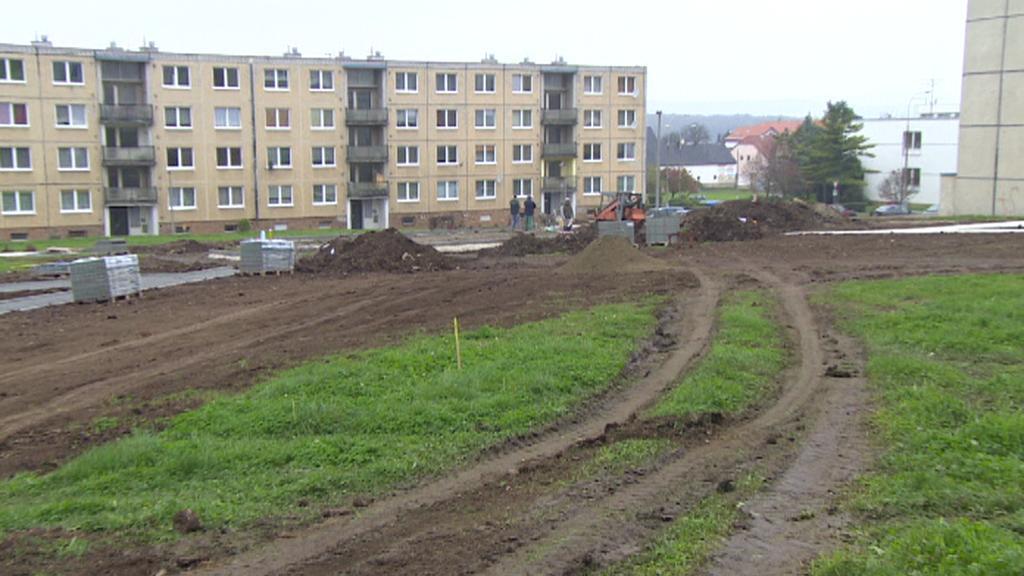 Bečov - místo po zbouraných panelácích