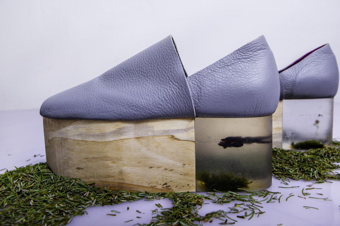 Boty z projektu Naturity oděvní designérky Michaely Čapkové