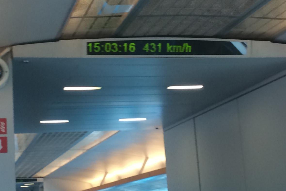 Nejvyšší dosažená rychlost soupravy Maglev